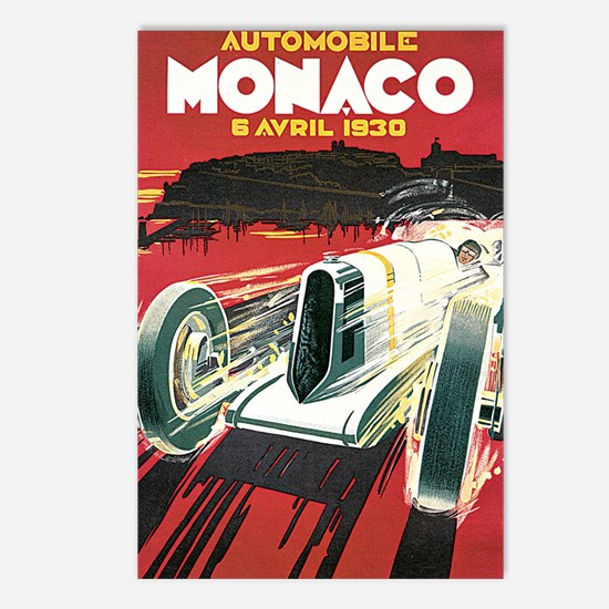 Monaco Grand Prix 1930 1 Postcards (Package of 8)
