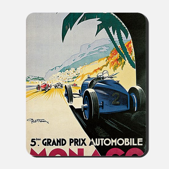 Monaco 5th Grand Prix Automobile 1933 1 Mousepad