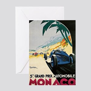 Monaco 5th Grand Prix Automobile 193 Greeting Card