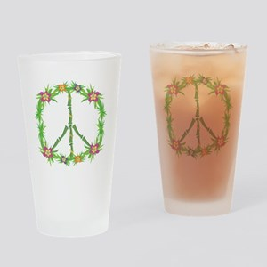 Tropical Peace Sign Drinking Glass