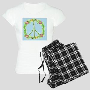 Tropical Peace Sign Women's Light Pajamas