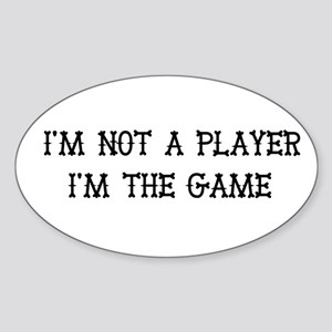 I'm The Game Oval Sticker
