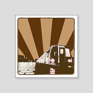 "MetroCar_2 Square Sticker 3"" x 3"""