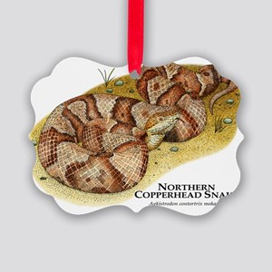 Northern Copperhead Snake Picture Ornament