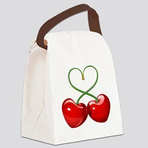 Cherry Love Canvas Lunch Bag