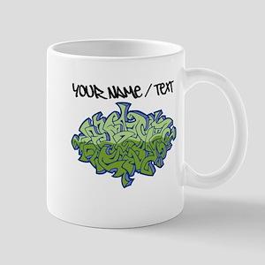 Green Graffiti Mugs