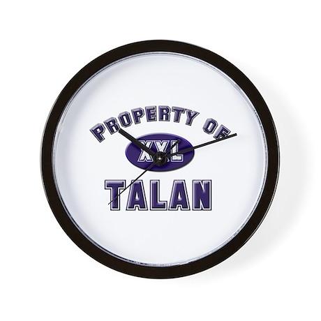Property of talan Wall Clock
