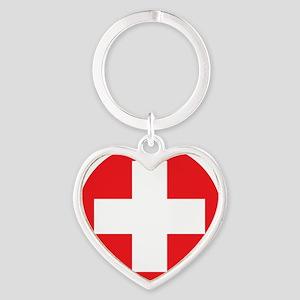 red cross Heart Keychain