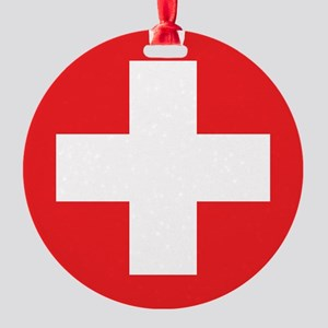 red cross Round Ornament