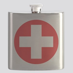red cross Flask