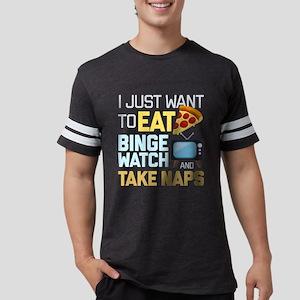 Pizza Binge Naps Emoji Mens Football Shirt