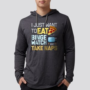 Pizza Binge Naps Emoji Mens Hooded Shirt