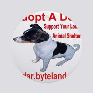 adoptadog_transparent Round Ornament