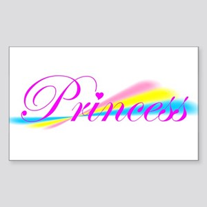 Rainbow Princess Rectangle Sticker