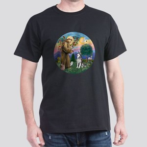 St Francis (R) - Alaskan Malamute Dark T-Shirt