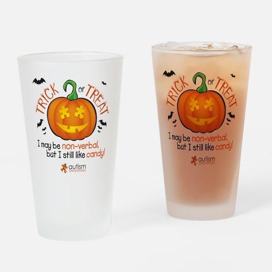halloween1-non-verbal Drinking Glass