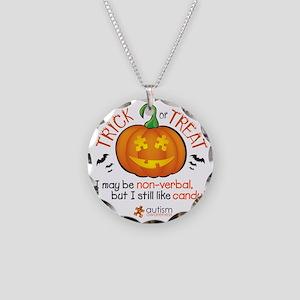 halloween1-non-verbal Necklace Circle Charm