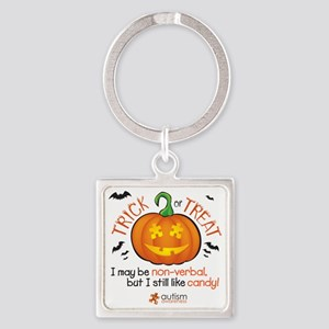 halloween1-non-verbal Square Keychain