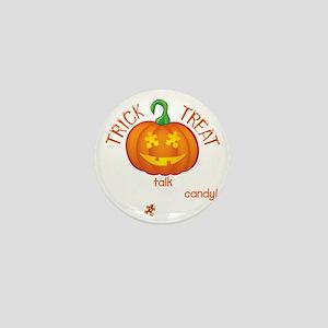 halloween1-talk-onblk Mini Button