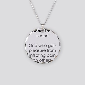 personal_trainer Necklace Circle Charm