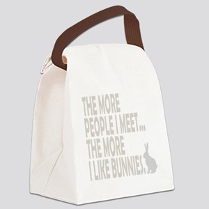 THE MORE I LIKE BUNNIES 1 CLEAR B Canvas Lunch Bag