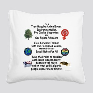 independent_thinker_2d_trans Square Canvas Pillow