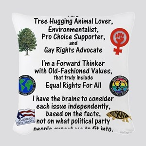 independent_thinker_2d_trans Woven Throw Pillow