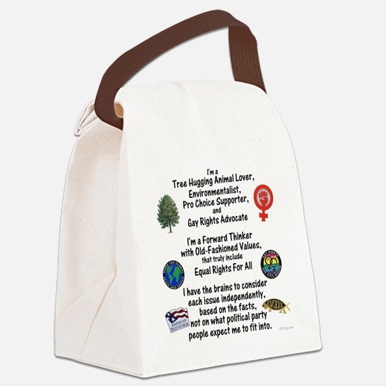 independent_thinker_2d_trans Canvas Lunch Bag