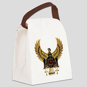 egyptianonwhite Canvas Lunch Bag