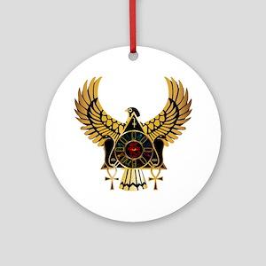 egyptianonwhite Round Ornament