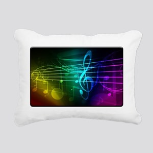 color of music_template_ Rectangular Canvas Pillow