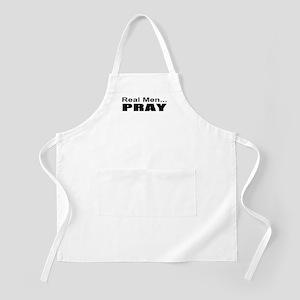 Real Men Pray BBQ Apron