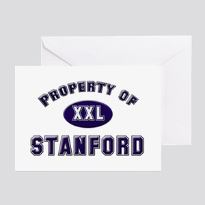 Property of stanford Greeting Cards (Pk of 10)