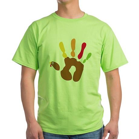 turkeyhand_dark Green T-Shirt