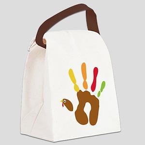 turkeyhand_dark Canvas Lunch Bag