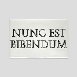 NUNC EST BIBENDUM Rectangle Magnet