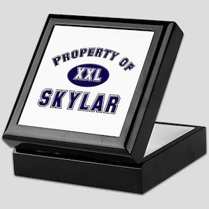 Property of skylar Keepsake Box