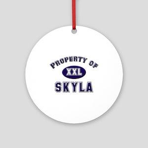 Property of skyla Ornament (Round)