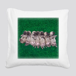 greenbed pupmergesqu Square Canvas Pillow