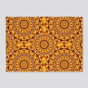 Golden mandalas pattern 5'x7'Area Rug
