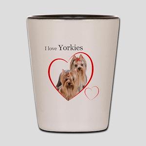 YorkieLove1 Shot Glass