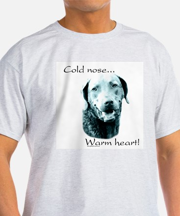 Chessie Warm Heart Ash Grey T-Shirt