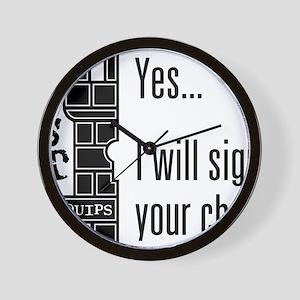 Quips_SignChest_light-crop Wall Clock