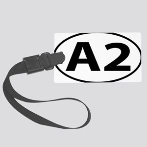 Ann Arbor A2 Michigan Oval Large Luggage Tag