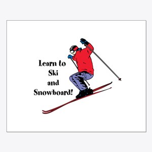 Learn to Ski and Snowboard Month Posters