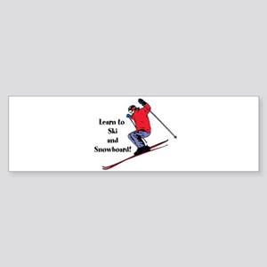 Learn to Ski and Snowboard Month Bumper Sticker