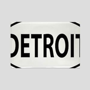 Detroit oval Rectangle Magnet