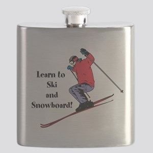 Learn to Ski and Snowboard Month Flask