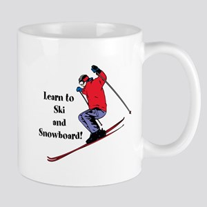 Learn to Ski and Snowboard Month Mugs
