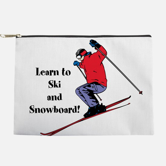 Learn to Ski and Snowboard Month Makeup Pouch